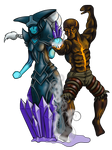 Lissandra and Brand (Fire and Ice)