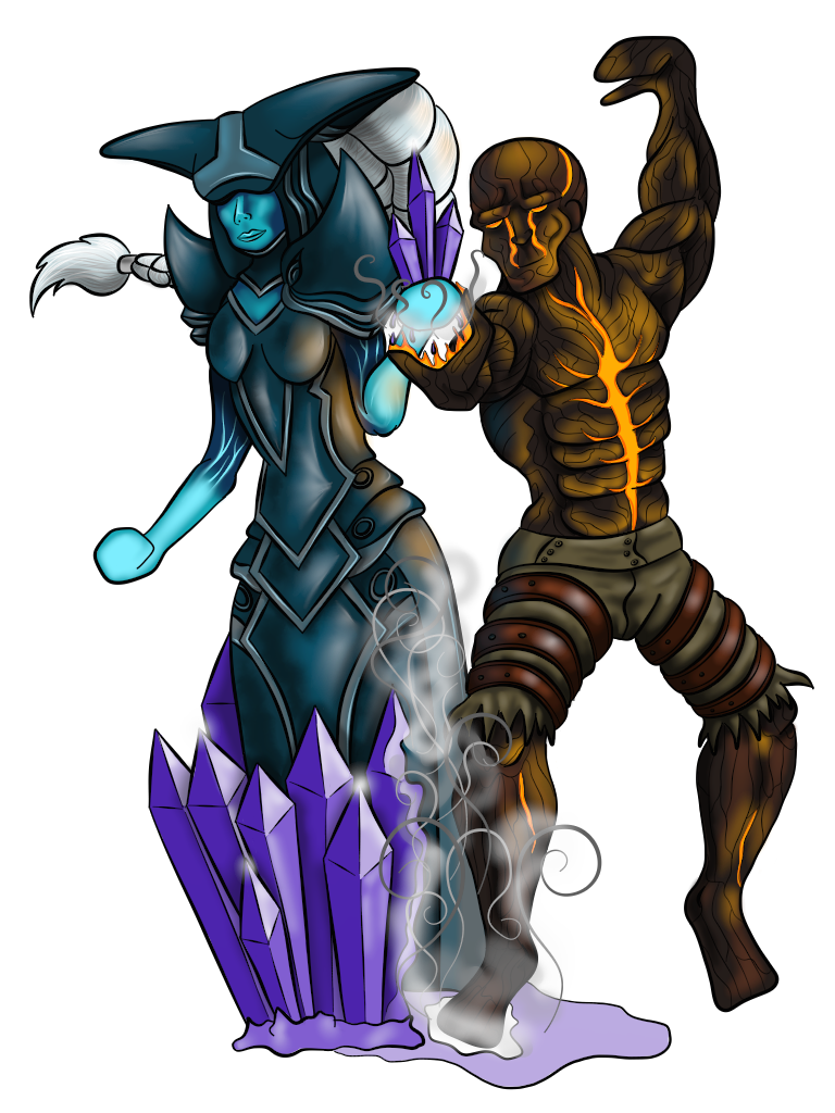 Lissandra and Brand (Fire and Ice) by HarlandGirl