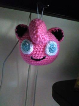 Jigglypuff Crochet Dangler