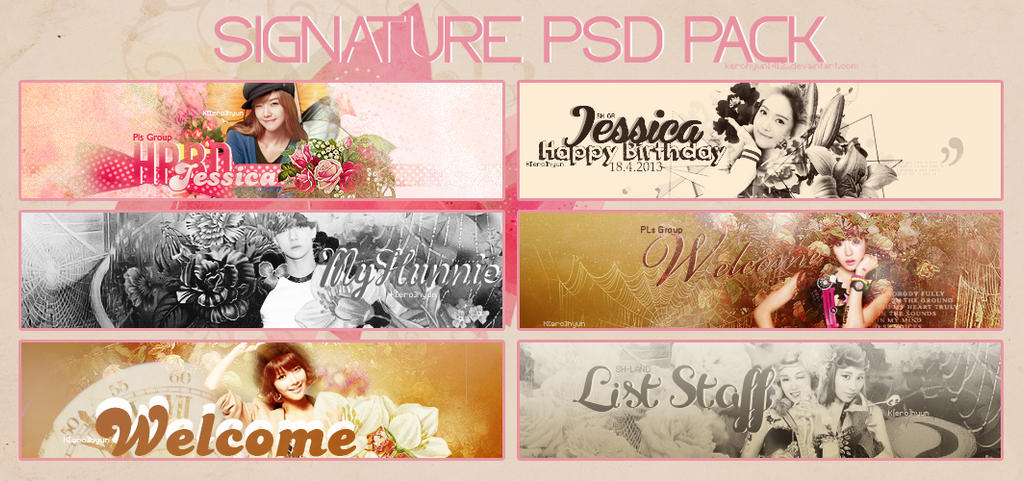 PSD PACK #1 by KerosHyun