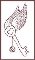 Key to my Winged Heart Tattoo