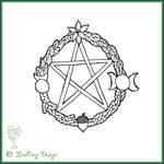 God-dess Pentagram tattoo