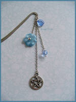Lightblue bookmark by Marjolijn-Ashara