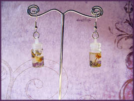 Spellbottle earrings - Peace by Marjolijn-Ashara