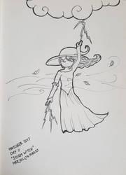 Inktober day 11: Storm Witch by Marjolijn-Ashara