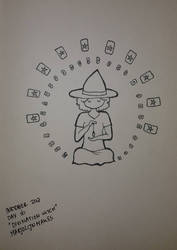 Inktober day 16: Divination Witch