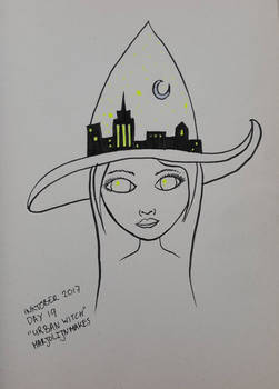 Inktober day 19: Urban Witch