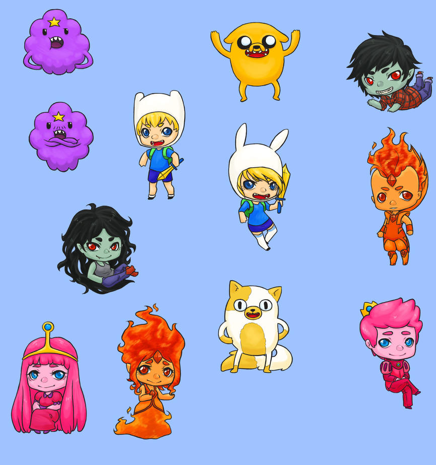 Adventure Time Charms by PanjirenArt on DeviantArt