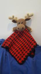 Moose Lovey Blanket by Kaiele