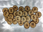 Norse oak runes by fractured100