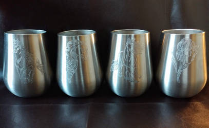 4 piece horse tumbler collection by fractured100