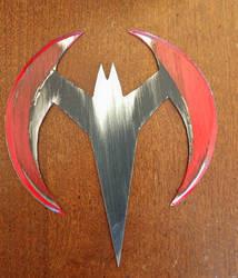 Batman beyond damaged batarang by fractured100