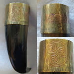 Celtic drinking horn by fractured100
