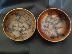 Resin filled fractal bowls