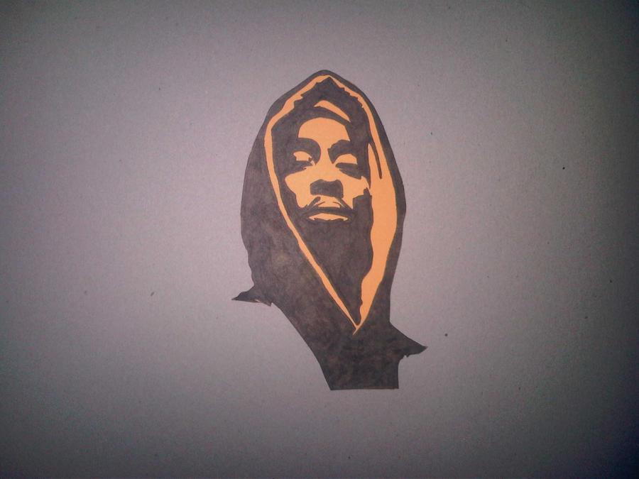 2Pac Drawed Stencil Cut Out By SeanJJ On DeviantArt