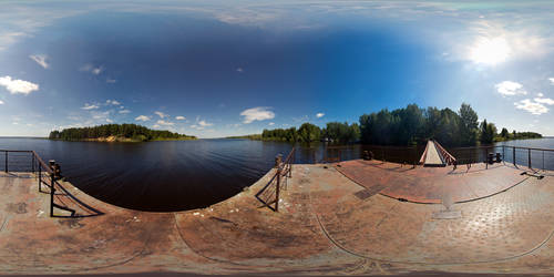 Pier landscape in ultra high resolution. Panorama