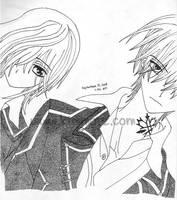 Vampire Knight - Yuki and Zero by Kimmorz