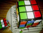 Rubik's Cube Cake. No Candles