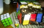 Rubik's Cube Cake. Eaten.