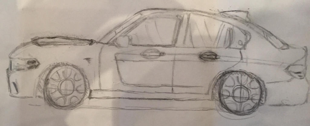 BMW Dodge Charger Sketch by jallenq