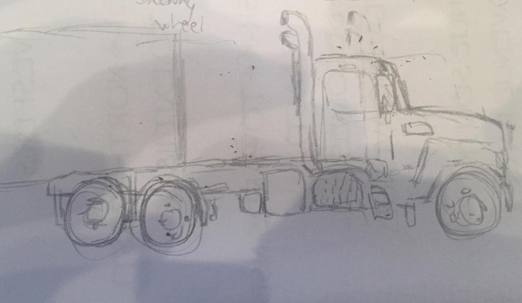 Mac truck sketch by jallenq