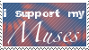 I Support My Muses stamp by BellaCielo