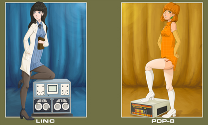 Bday gift: LINC + PDP-8 Pinups by BellaCielo