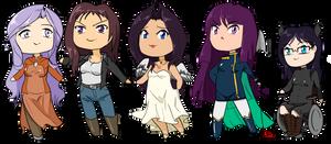 Purple Haired Girls