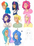 MLP Humanizations - Color