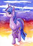 Watercolor Twilight Sparkle