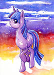Watercolor Twilight Sparkle