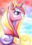 Princess Cadance - Watercolor by BellaCielo