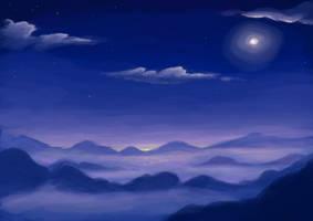 Sea of Clouds - WIP by BellaCielo