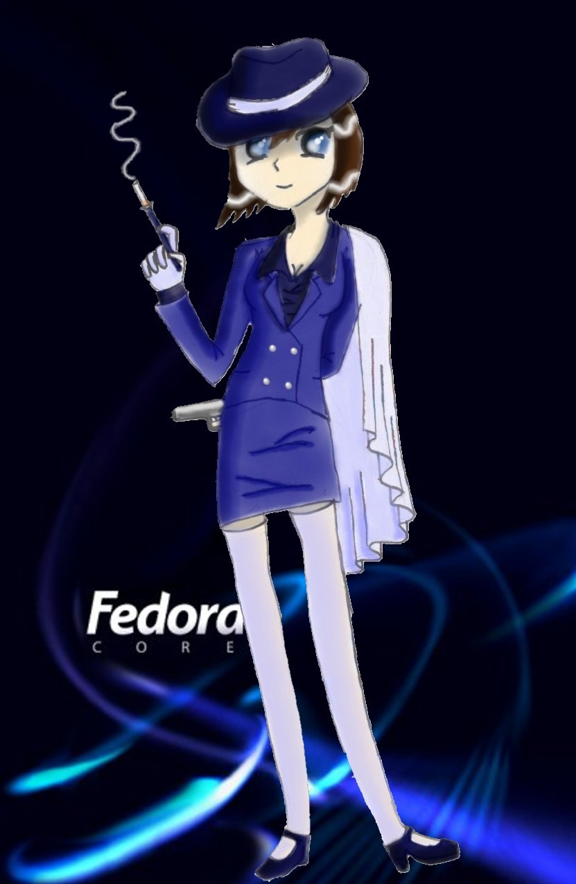 Fedora-tan by BellaCielo