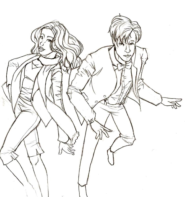 amy pond doctor who colouring pages