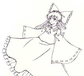 [Pen Challenge] Reimu Hakurei by Joy4000