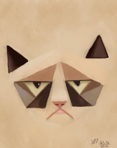 grumpy cat by Hitryi-Pryanik