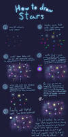 How to draw stars step by step by Hitryi-Pryanik
