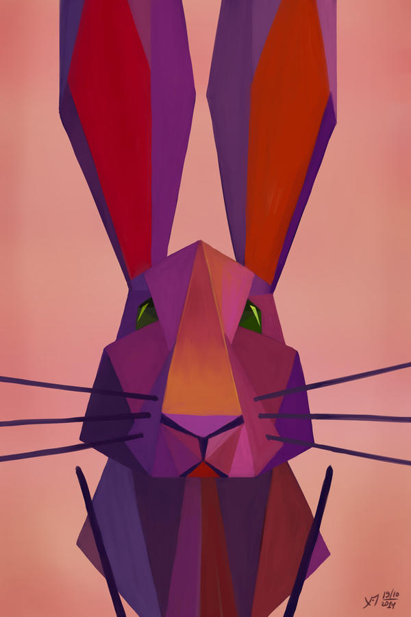 black rabbit`s colour vibrations by Hitryi-Pryanik
