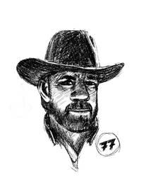 Chuck Norris 77 by Hitryi-Pryanik