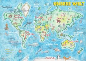 WorldMap in watercolor