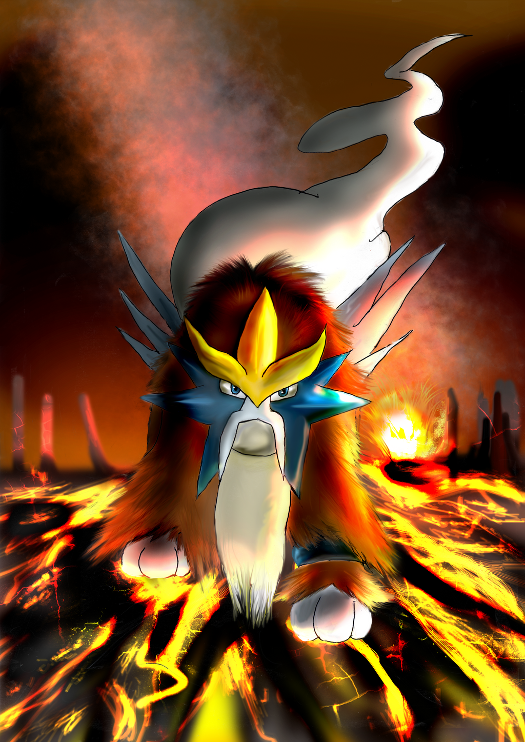 how to find entei in soul silver