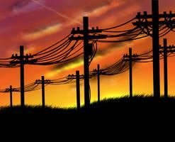 Sunset light by Titanium-Zen