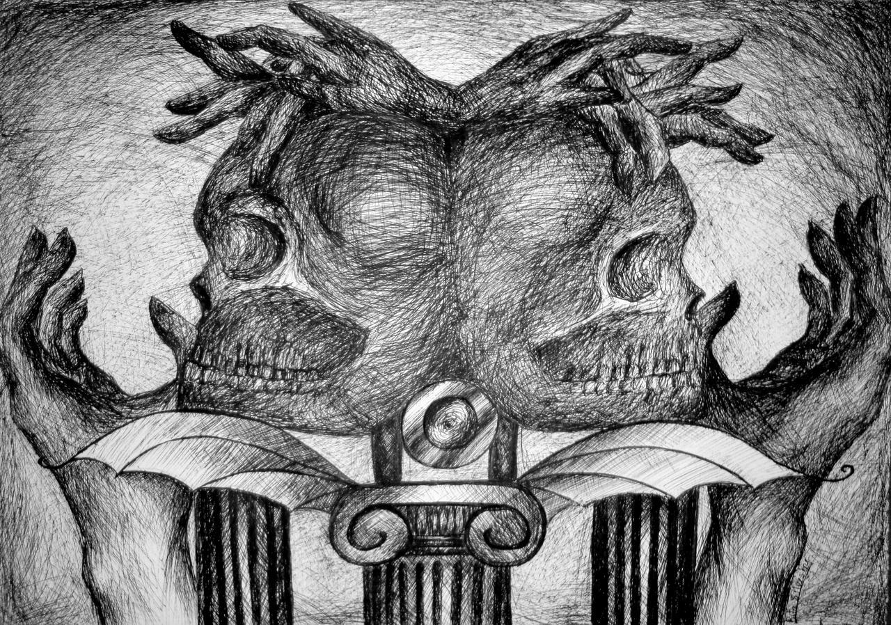 skulls and fingers by RitaSilvestre