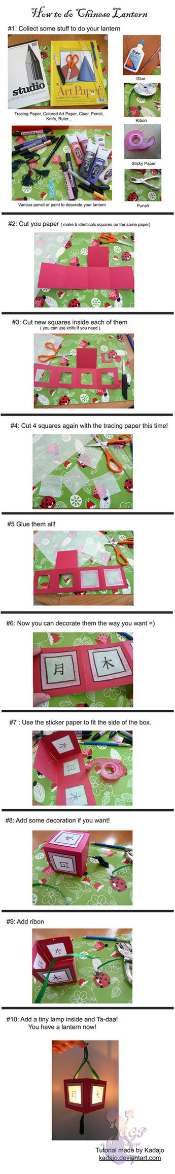 How to do Chinese Lantern - tutorial by Kadajo