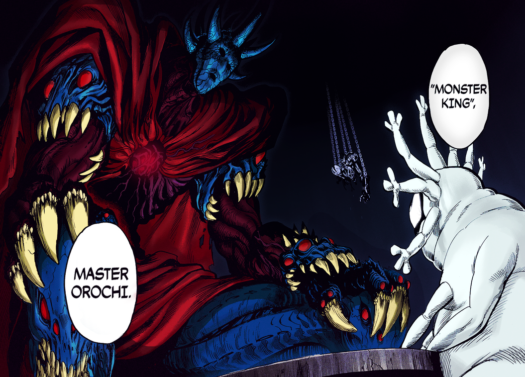 orochi and psykos with color onepunchman