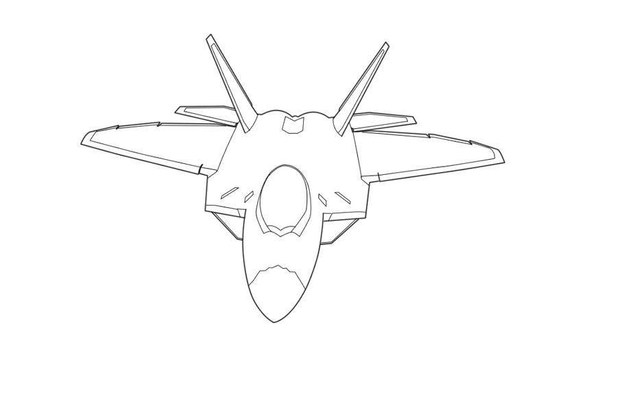 F-22 Raptor Lineart by...F 22 Drawing
