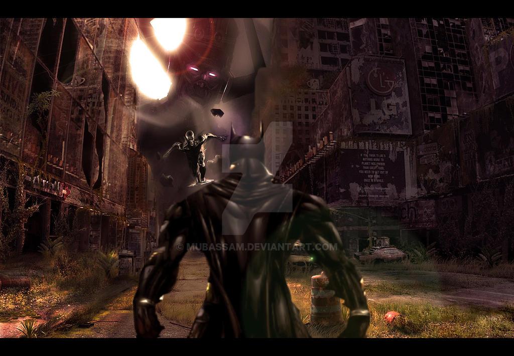 Batman vs Silver Surfer and Galactus by mubassam on DeviantArt