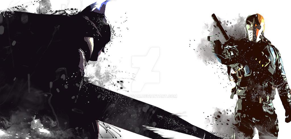 Batman Vs Deathstroke By Mubassam