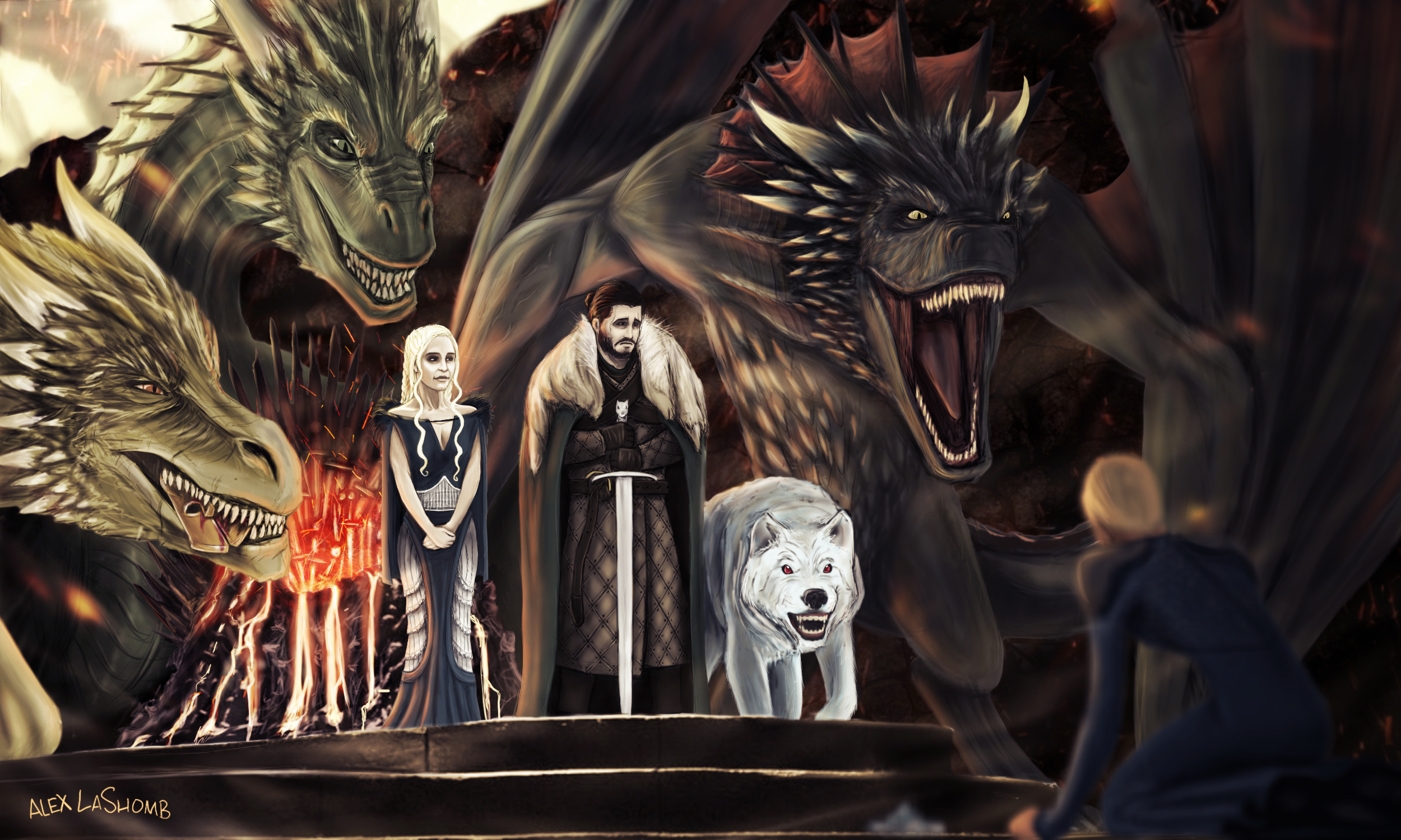 End of the iron throne by soiceywalk on deviantart for Iron throne painting
